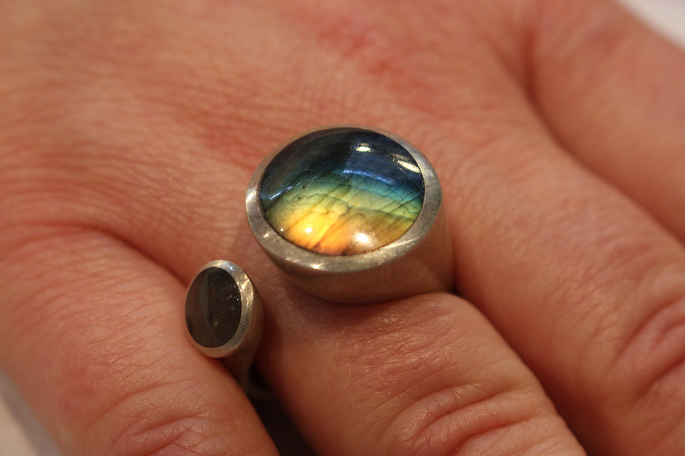 Bague labradorite - psyche-paris