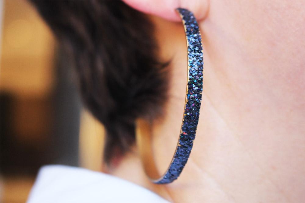 Boucles d'oreilles en émail sipora - psyche-paris
