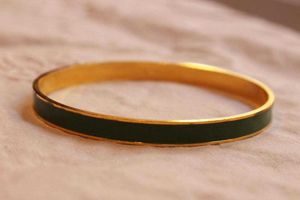 Bracelet sipora vert et doré - psyche-paris