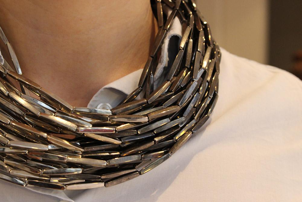 Collier en aluminium trois design - psyche-paris