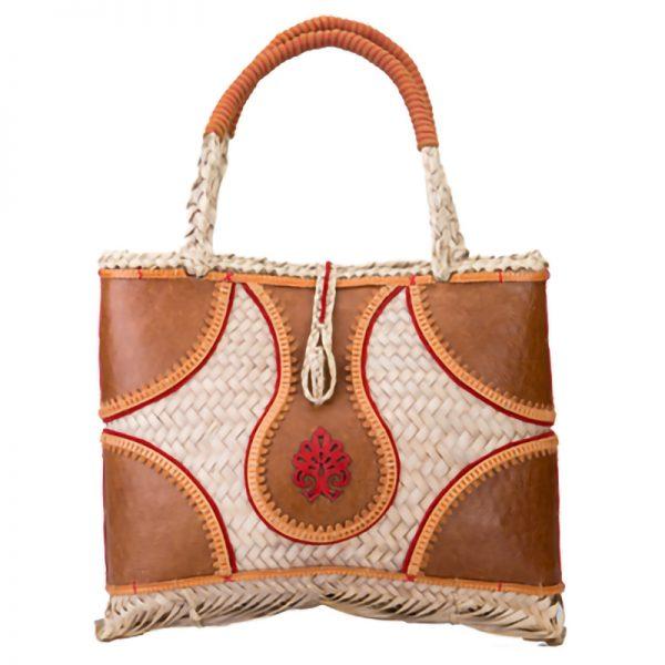 sac a main luxe feuilles palmes